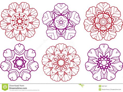 Abstract Flower Designs Stock Vector Image Of Floral Floral Designs
