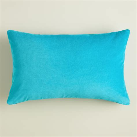 Blue Lumbar Pillow by Peacock Blue Velvet Lumbar Pillow World Market