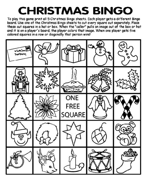 printable christmas bingo cards black and white christmas bingo board no 3 coloring page crayola com