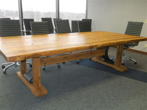 Wooden Meeting Table Reclaimed Wood Conference Room Tables Antique Woodworks