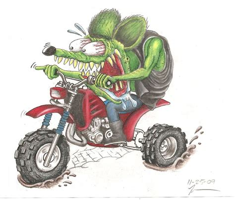 quot rat fink on a 3 wheeler quot by jimmyjack redbubble