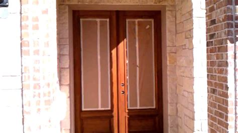 How To Re Stain Wood Front Door Youtube How To Stain Front Door