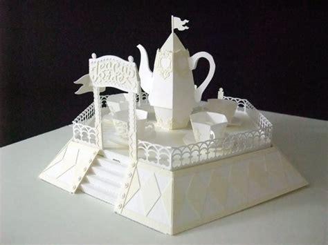 Pop Up Papercraft - hiroko momoi tea cup ride pop up paper craft http youtu