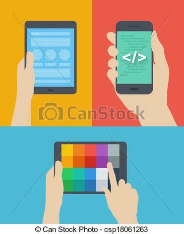 disegni appartamenti clipart vettoriali di mobile web disegno illustrazione