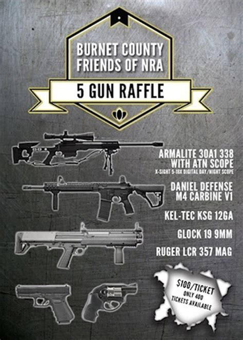 Firearms Giveaway - burnet county friends of nra to hold five gun drawing