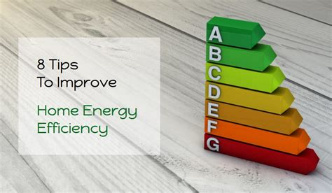 8 tips to improve home energy efficiency infographics