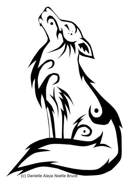 wolf outline tattoo husky symbols tribal howling wolf by passionatepaints