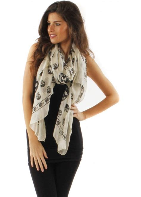 silk skull print scarf designer skull scarves