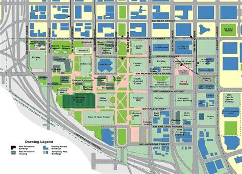 portland state map portland state