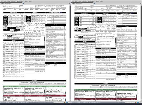 3 5e character sheet pdf