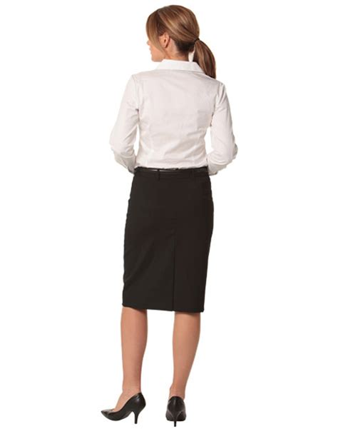 m9470 s wool stretch mid length lined pencil skirt