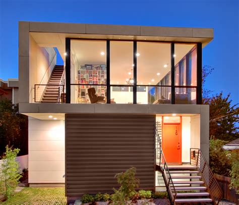 modern house design  small site witin  tight budget