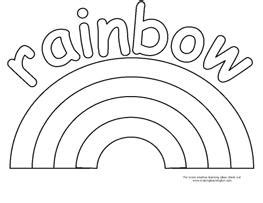 R Is For Rainbow Coloring Page by Bingo Marker And Coloring Pages