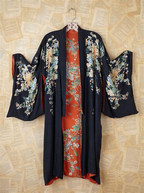 lyst free vintage kimono in black