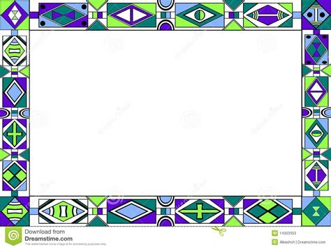pattern with frame african tribal art pattern s frame stock vector