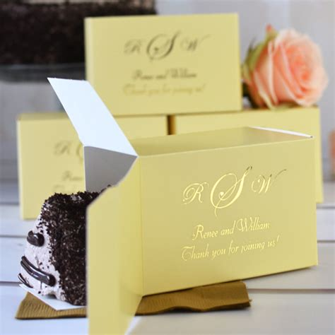 Places That Make Wedding Cakes by 5 X 3 Custom Printed Cake Slice Favor Boxes Set Of 50