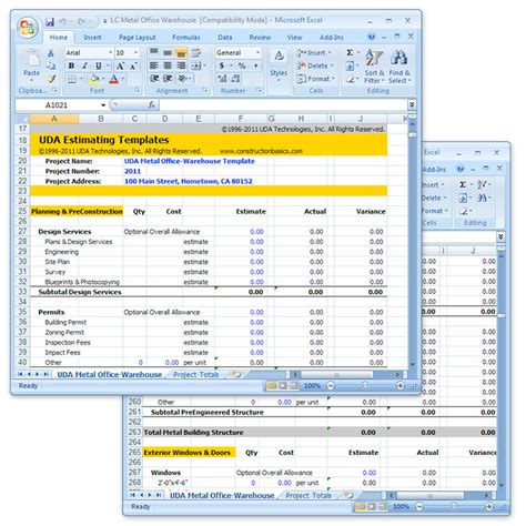 Excel Estimate Template Construction by Construction Cost Estimate Template Free Quotes