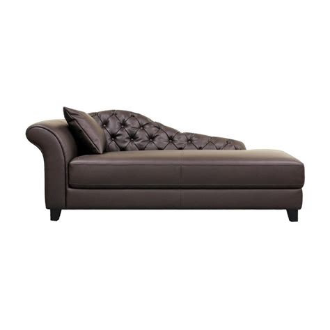 brown chaise lounge indoor baxton studio contemporary style chaise lounge brown