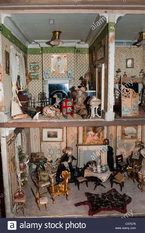 childrens dolls houses uk london u k antique children s doll house on display inside quot london stock photo
