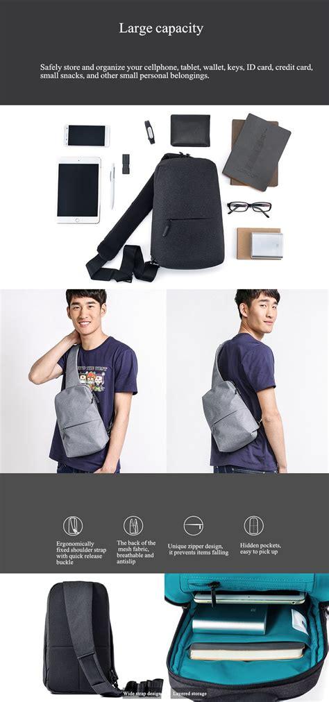 Ori Xiaomi Multifunctional Chest Pack Crossbody Bag Shoulder Backpack original xiaomi multifunction crossbody bag outdoor