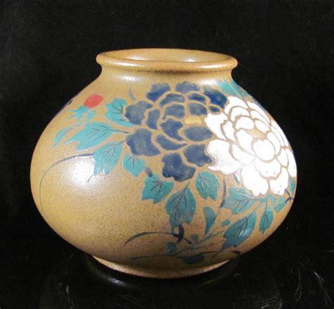 Most Valuable Vases by Japanese Vintage Pottery Vase By Okada Gyouzan
