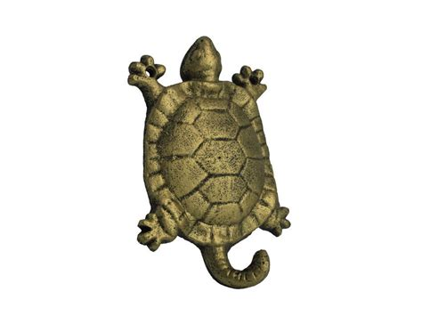 Cast Iron Decor by Rustic Gold Cast Iron Turtle Hook 6 Quot Nautical Home Decor