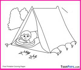 free coloring pages of tents
