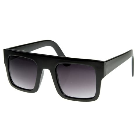 Thick Frame Sunglasses modern fashion flat top thick frame square