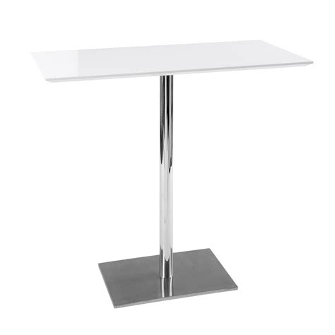 White Breakfast Bar Table Sicily Bar Table White Dwell