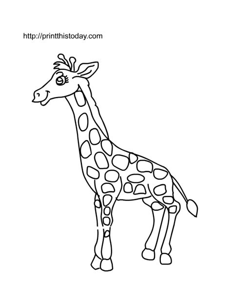 giraffe printable template free printable animals coloring pages 2