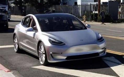 tesla model 3 prototype spotted in the wild video gas 2