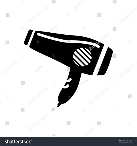 Hair Dryer Icon hair dryer icon stock vector illustration 322607888