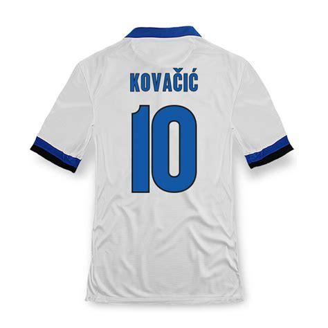 13 14 inter milan 10 kovacic away white soccer jersey