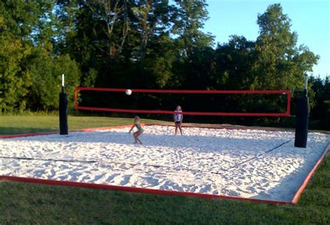 backyard volleyball court i love this site for one stop shopping for a complete