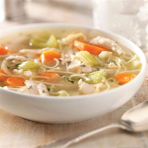 chicken and vegetable noodle soup recipe taste of home