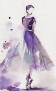 Von etsy original watercolor painting ballerina painting watercolor