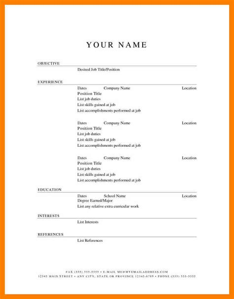 Resume Templates Free Download Whitneyport Daily Com Simple Templates Free