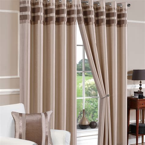 curtains denver denver faux silk latte ready made eyelet curtains eyelet