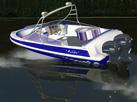 motor boat malibu32 motor boat