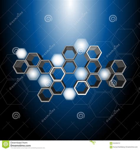 3d hexagon pattern stock vector image 55435372
