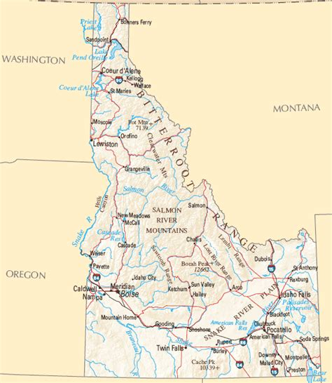 idaho map with cities idaho map map of idaho