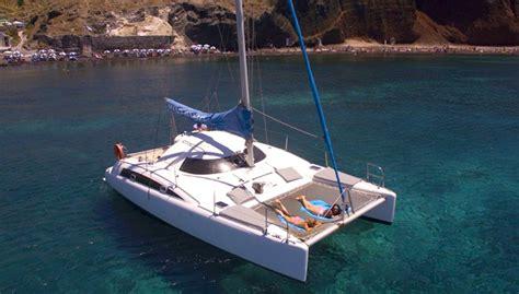 catamaran cruise with sunset santorini sailing in santorini catamaran cruises