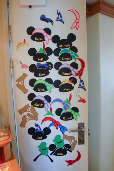 disney cruise door decorations mickey name signs domesticated engineer