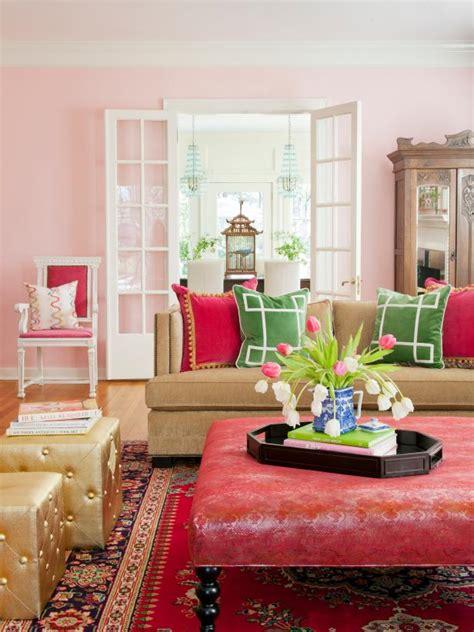 living rooms  pop  color hgtv