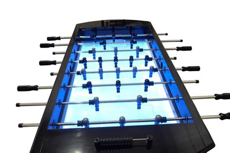 light up foosball table the neon foosball table in black with light up glow
