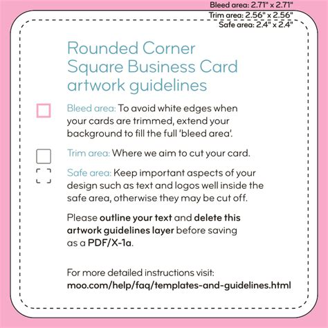 rounded corner business card template square business cards templates moo support