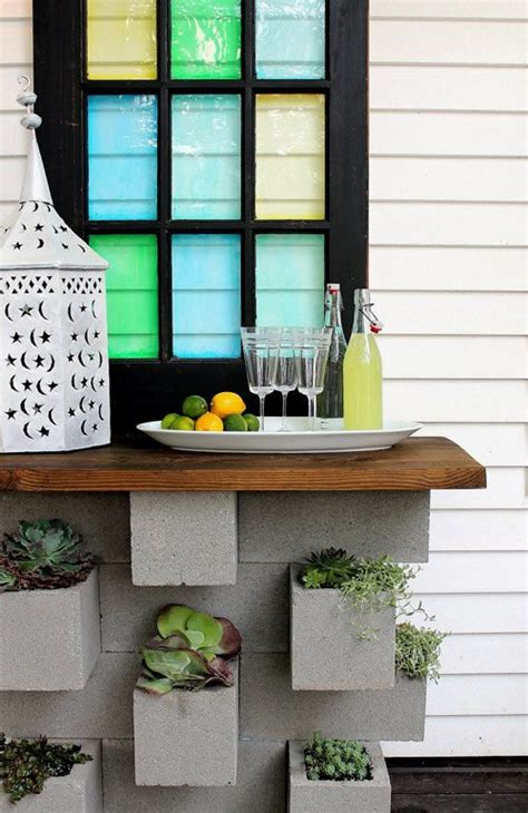 Planter Bar by Cinder Block Planter Bar Upcycle That