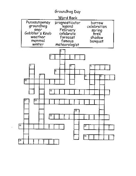 groundhog day adalah math diagram crossword choice image how to guide and