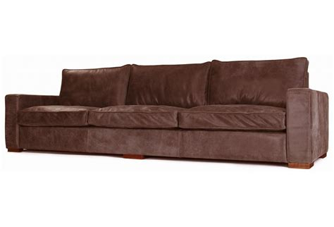 Battersea Rustic Leather Extra Large Sofa From Old Boot
