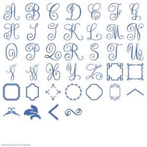 Iron On Monogram Initials Anna Griffin S Decorative Monograms Cricut Shop